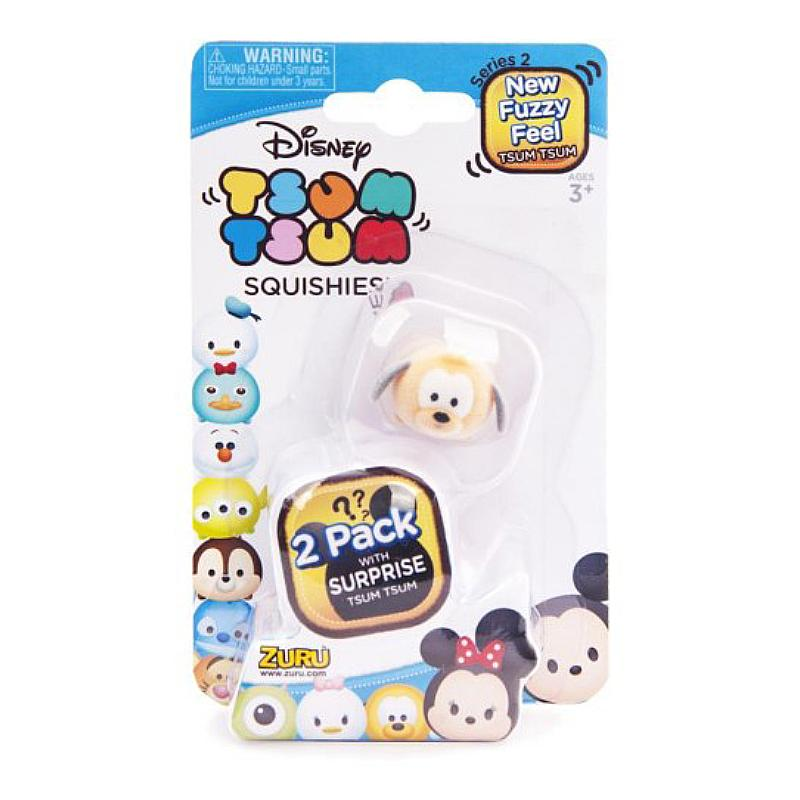 DISNEY TSUM TSUM SQUISHIES FUZZY FEEL 2 PACK
