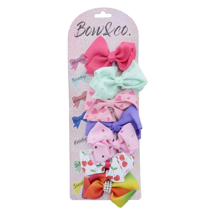 Bow & Co 7 Day Hair Bow Set