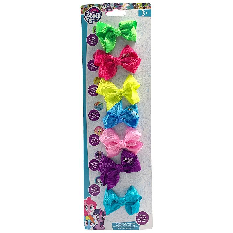 MY LITTLE PONY 7 DAY HAIR CLIP MINI BOW SET