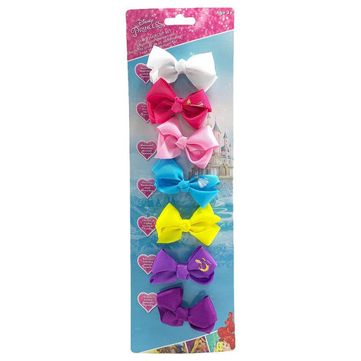 DISNEY PRINCESS 7 DAY HAIR CLIP MINI BOW SET