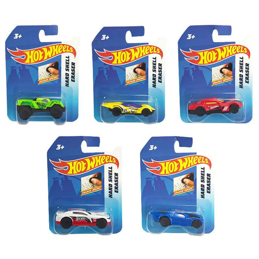 HOT WHEELS CAR SHAPED HARD SHELL ERASER