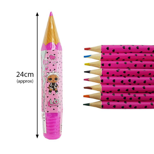 LOL SURPRISE PENCIL TUBE WITH 8 PENCILS