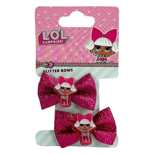 LOL SURPRISE GLITTER 2PK MINI HAIR BOW SET