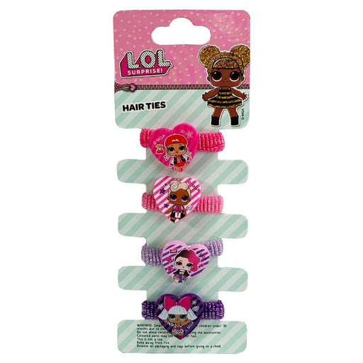 LOL SURPRISE 4PK ELASTIC HAIR BOBBLE SET
