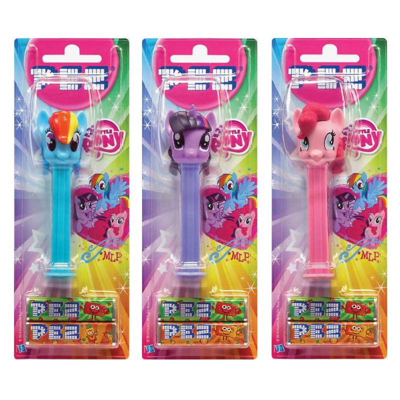 MY LITTLE PONY PEZ DISPENSER & REFILLS