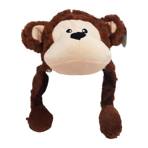 ANIMATED PLUSH MONKEY ANIMAL HAT