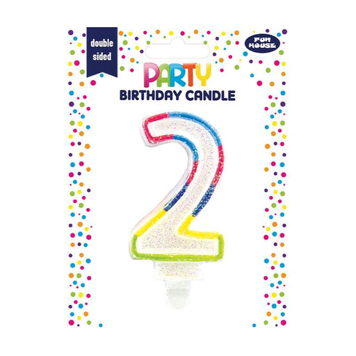 2ND BIRTHDAY DOUBLE SIDED BIRTHDAY CANDLE
