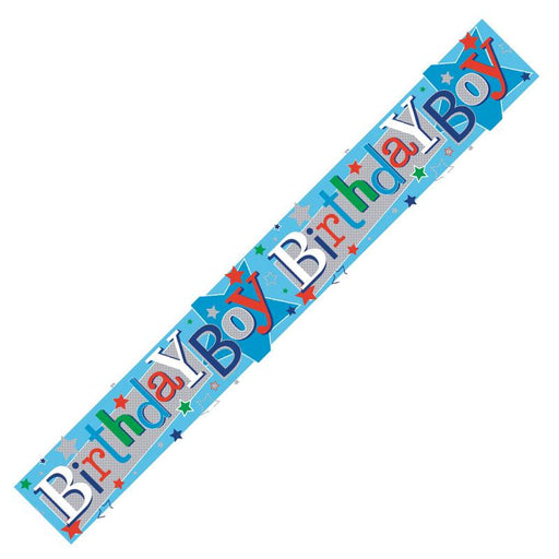 BIRTHDAY BOY BANNER BLUE