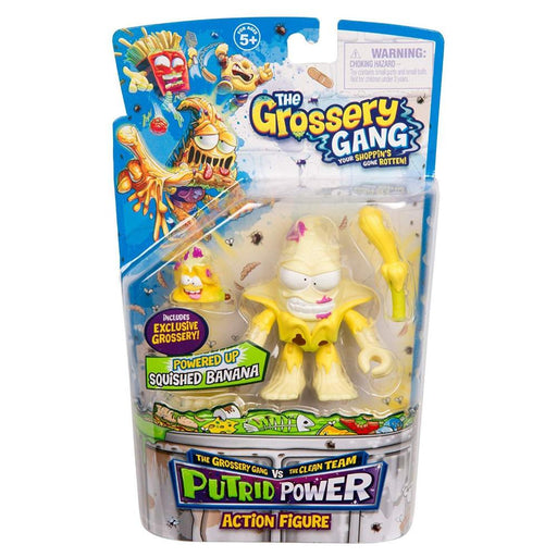 GROSSERY GANG PUTRID POWER SQUISHED BANANA ACTION FIGURE