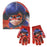 MIRACULOUS LADYBUG GLITTER EFFECT HAT & GLOVES SET