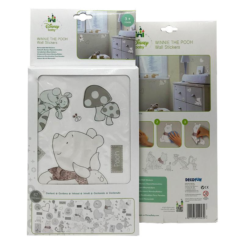 DISNEY BABY WINNIE THE POOH WALL STICKERS 67PC SET