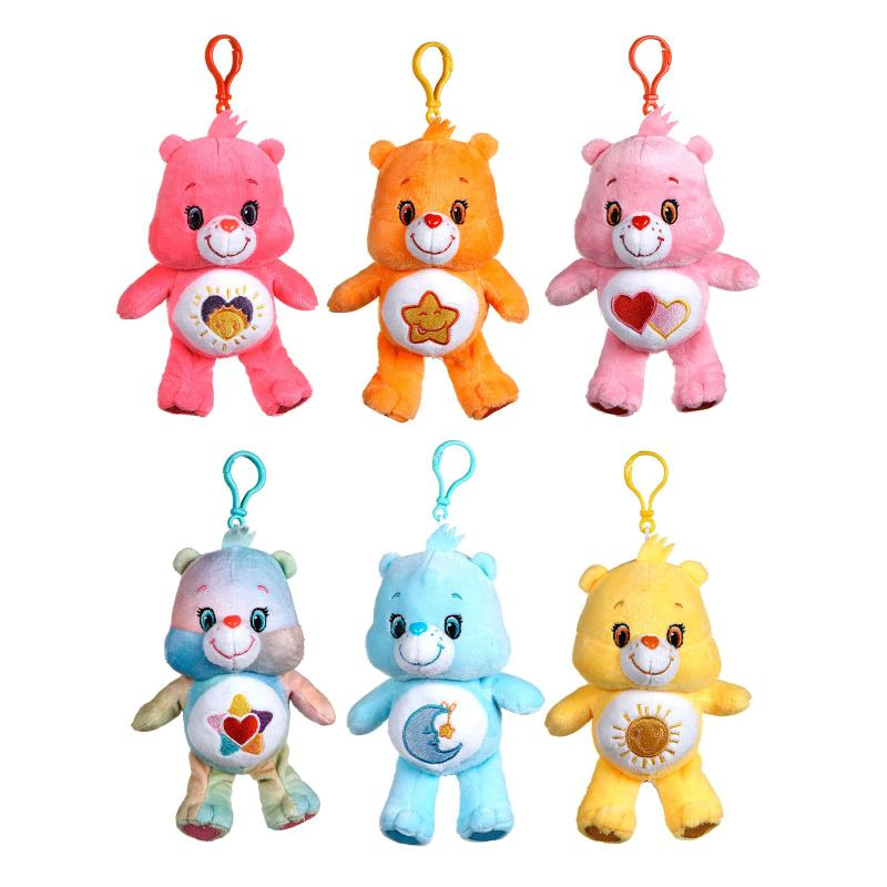 "Care Bears 6"" Soft Plush Bag Clip"