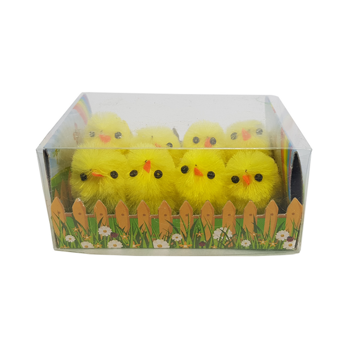 CHENILLE CHICK YELLOW 8 PACK