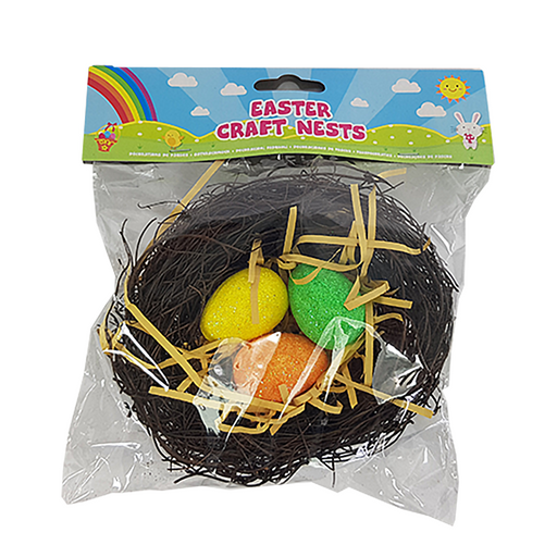 Easter Craft Egg Set With Nest