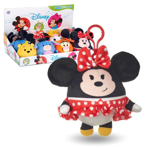 "DISNEY SQUEEZSTERS MINNIE MOUSE SLOW RISING 4"" PLUSH TOY"