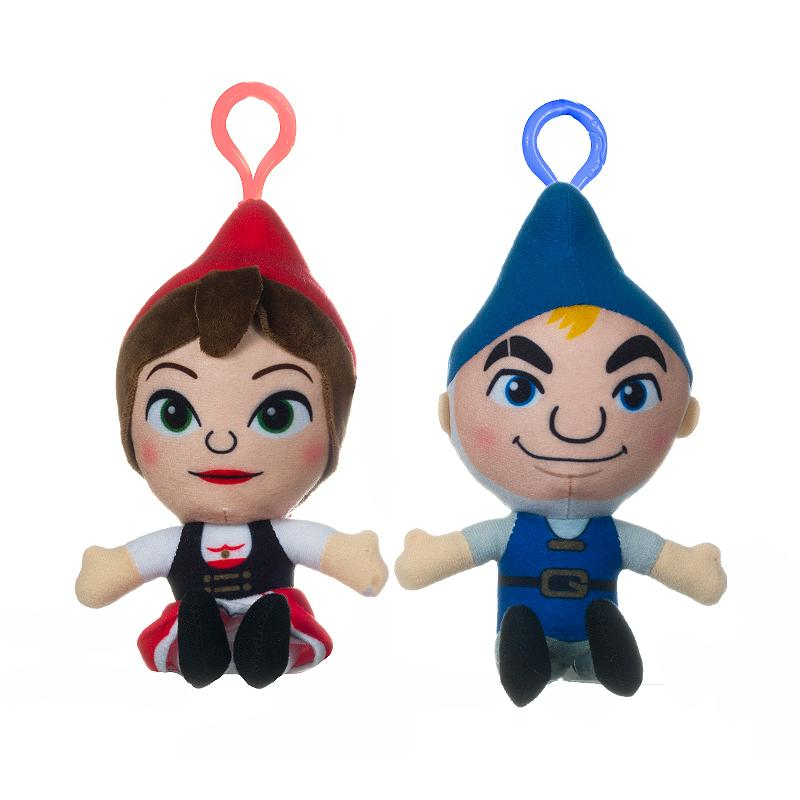 SHERLOCK GNOMES 18CM SOFT PLUSH BAG CLIP