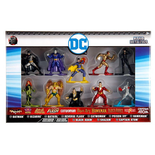 DC NANO METALFIGS 10PK SUPERHERO FIGURES