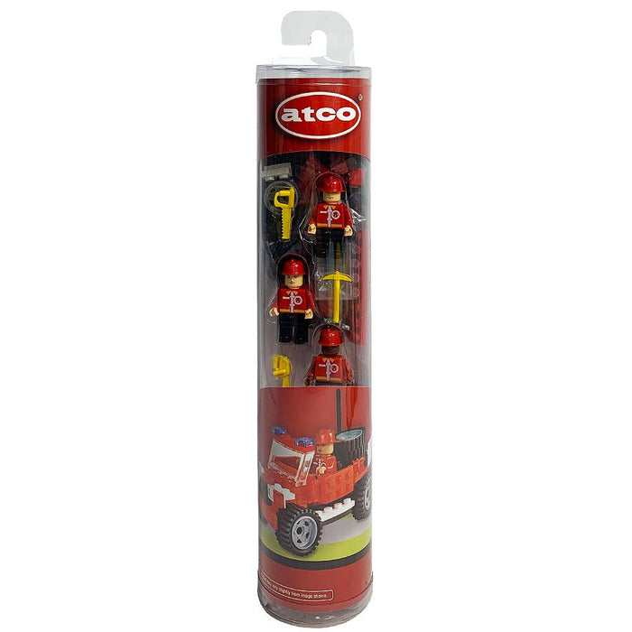 Atco Fire Construction Figure & Vehicle Buildable 103pc Playset