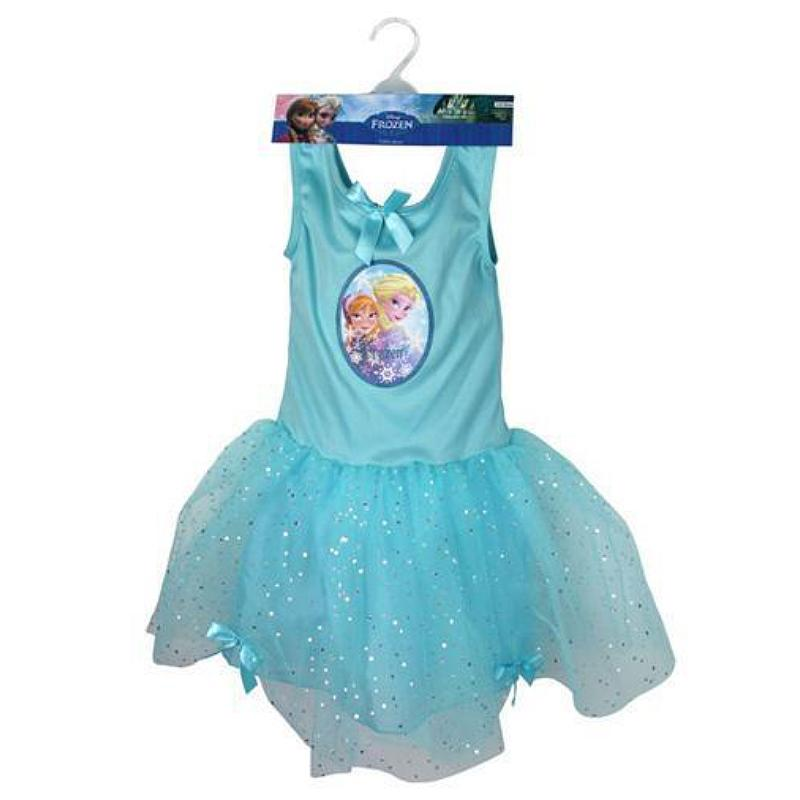DISNEY FROZEN ANNA & ELSA FANCY DRESS TUTU SIZE: 5-6