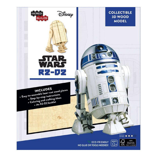 STAR WARS INCREDI-BUILDS R2-D2 COLLECTIBLE 3D WOOD MODEL SET