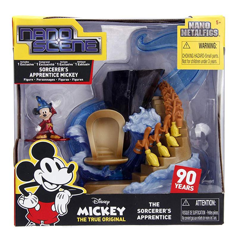 DISNEY NANO SCENE SORCERER'S APPRENTICE MICKEY METALFIGS PLAY SET