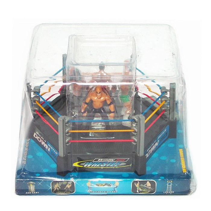 MINI WRESTLING RING SET WITH FIGURES