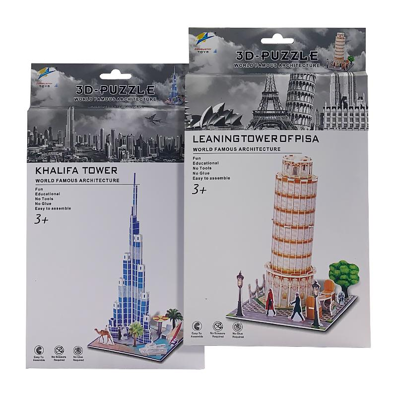 3D MINI ARCHITECT TOWER PUZZLE