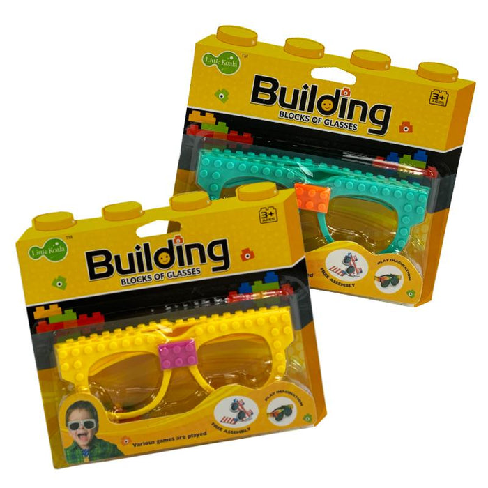 Building Brick Block DIY Novelty Glasses