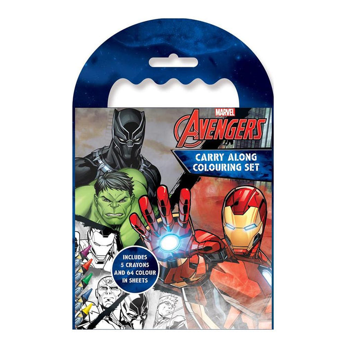 Marvel Avengers Carry Along Colouring Art Set