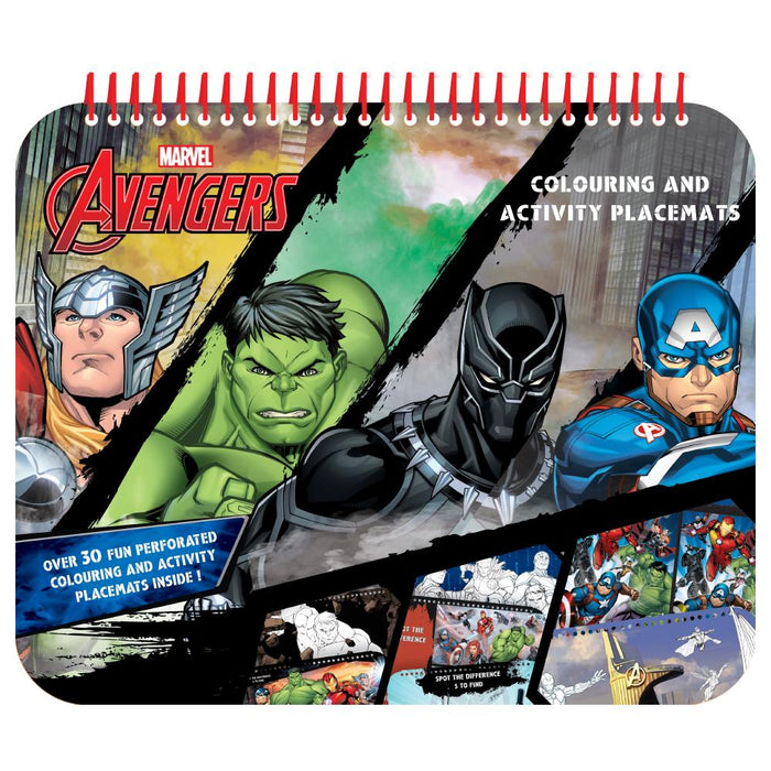 MARVEL AVENGERS COLOURING & ACTIVITY PLACEMATS
