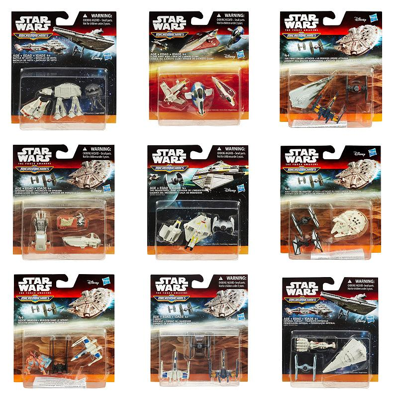STAR WARS MICROMACHINES MINI FIGURE 3 PACK PLAY SET