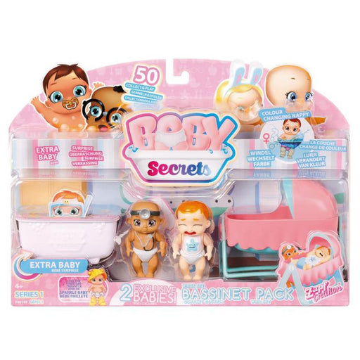BABY SECRETS BASSINET PACK ZAPF CREATION DOLL PLAY SET