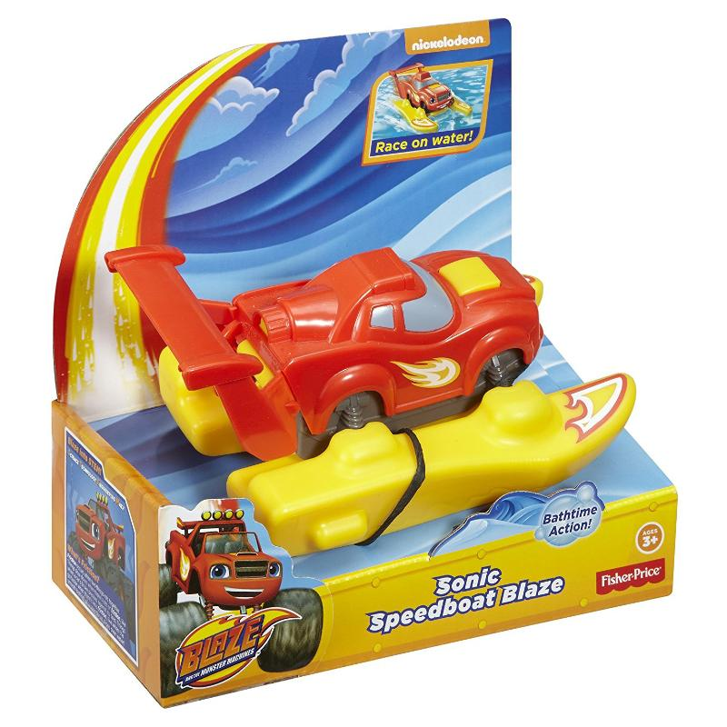 BLAZE SONIC SPEEDBOAT BATH TIME VEHICLE FIGURE