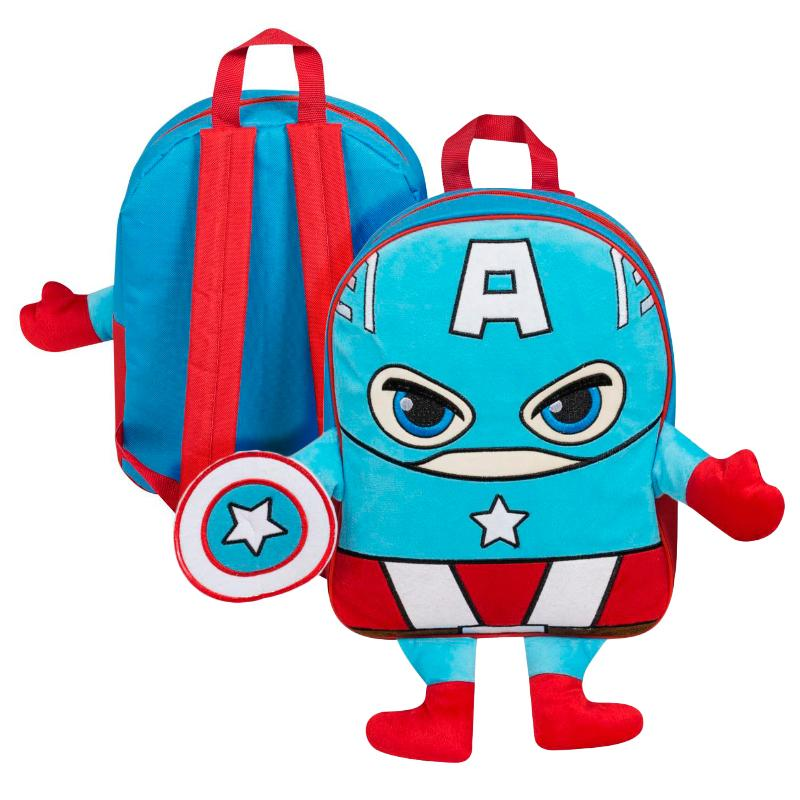 CAPTAIN AMERICA PLUSH FRONT BACKPACK