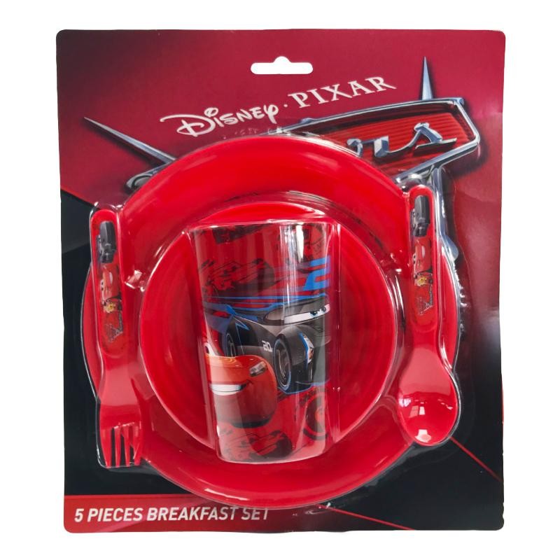 DISNEY PIXAR CARS 5PC DINNER SET