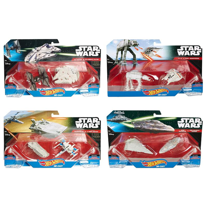 STAR WARS HOT WHEELS DIE-CAST VEHICLES TWIN PACK SHIPS