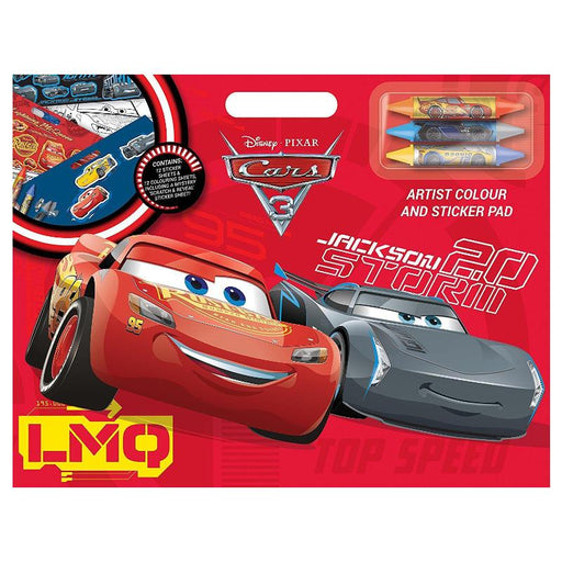 DISNEY CARS 3 ARTIST COLOUR & STICKER PAD