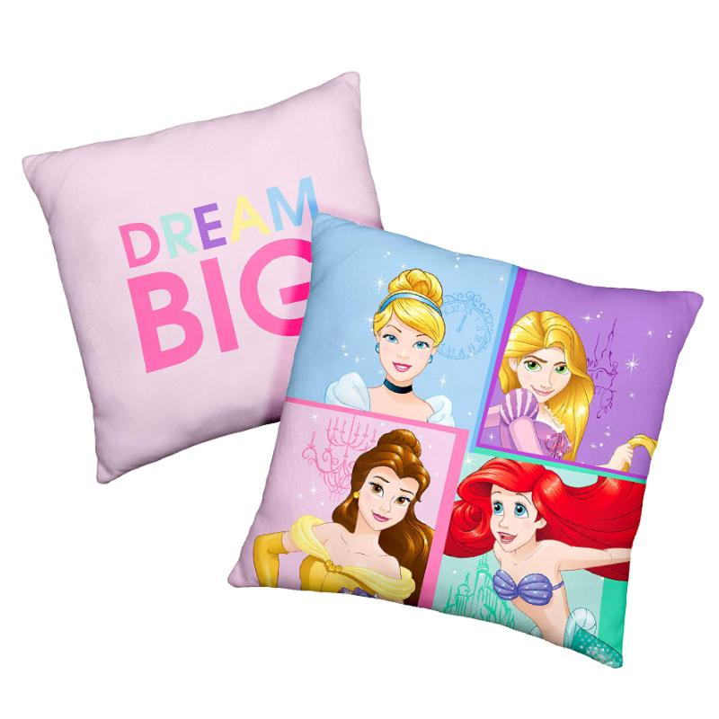 DISNEY PRINCESS CHARACTER DOUBLE SIDED 40CM CUSHION