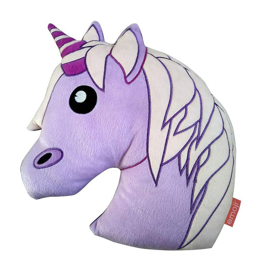 UNICORN EMOJI SHAPED 35CM CUSHION