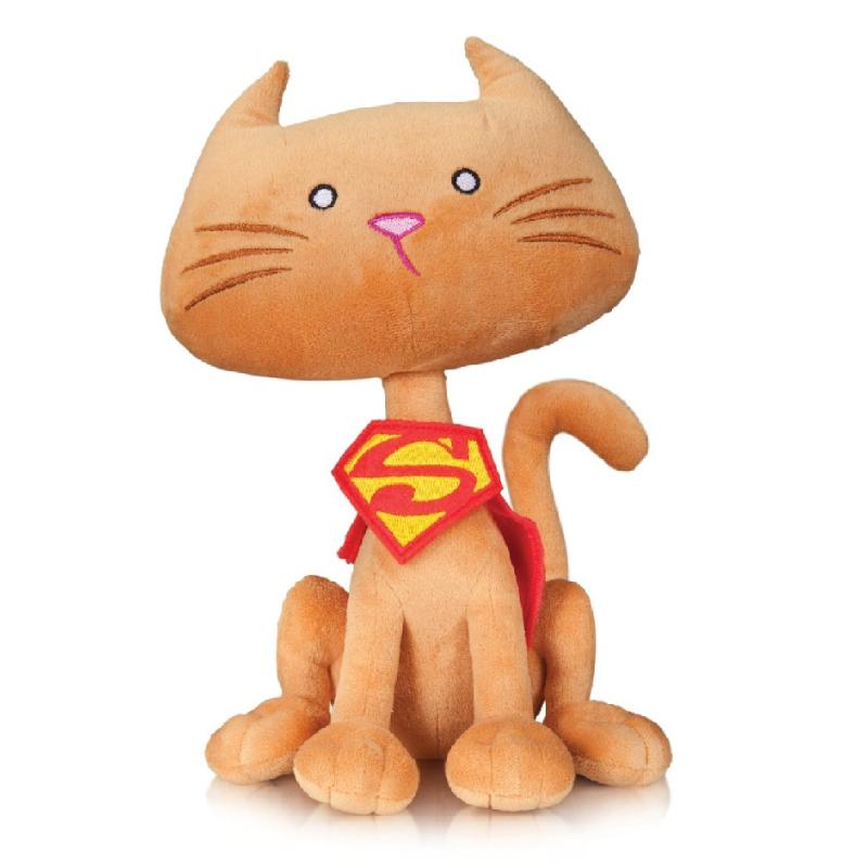 "DC COMICS SUPER PETS SUPERGIRL STREAKY CAT 9"" PLUSH"