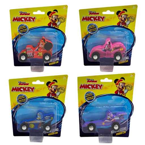 DISNEY JUNIOR MICKEY MOUSE & FRIENDS ROADSTER RACERS WOODEN CAR