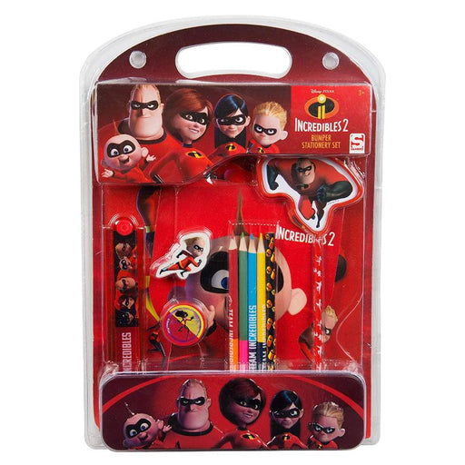 DISNEY PIXAR INCREDIBLES BUMPER STATIONERY SET