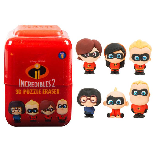 DISNEY PIXAR INCREDIBLES 2 PUZZLE PALZ 3D ERASER FIGURE