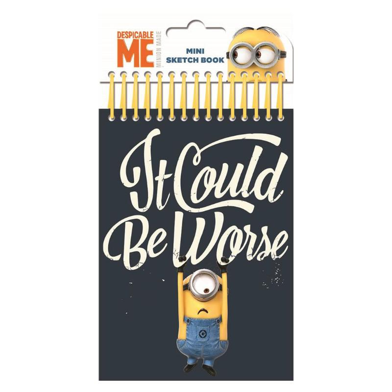 DESPICABLE ME MINI SKETCH BOOK WITH FELT TIPS & STICKERS