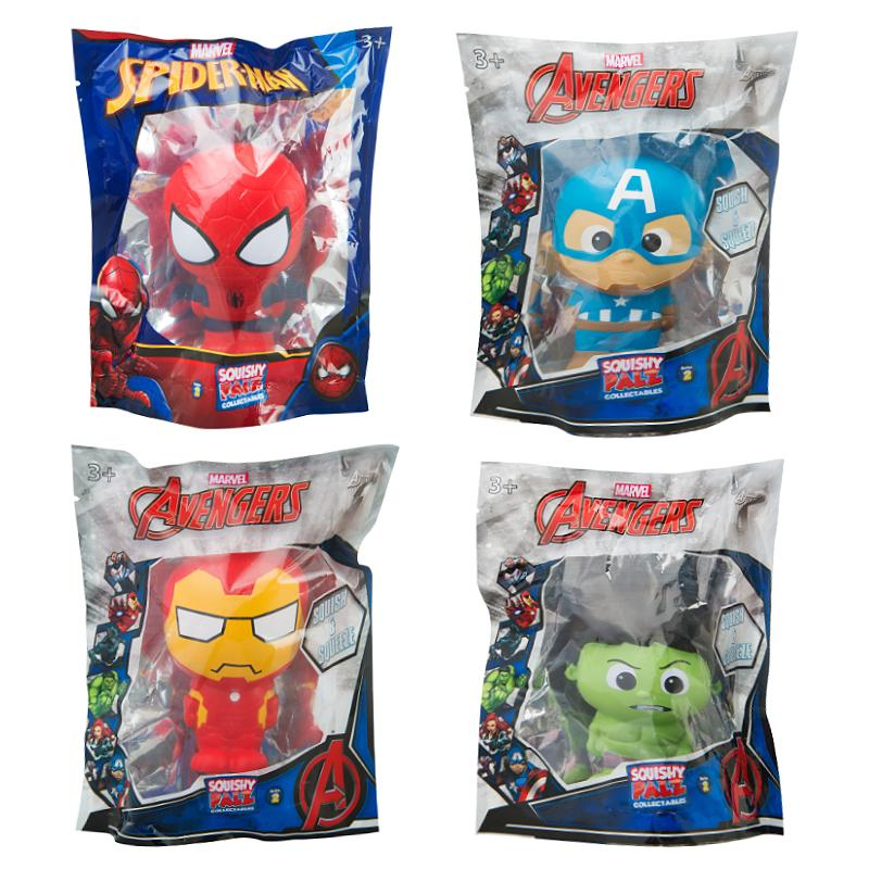 MARVEL AVENGERS SPIDERMAN /& HULK SQUISHIES