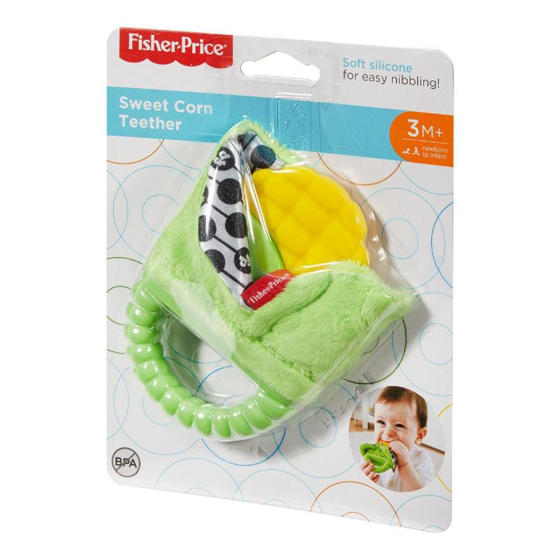 FISHER PRICE SWEET CORN TEETHER BABY TOY 3M+