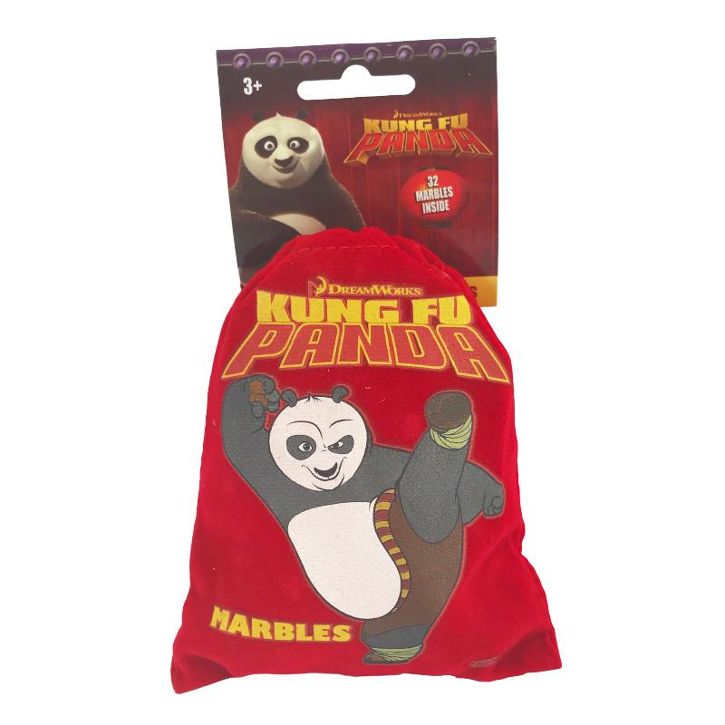 KUNG FU PANDA 32 MARBLES WITH POUCH