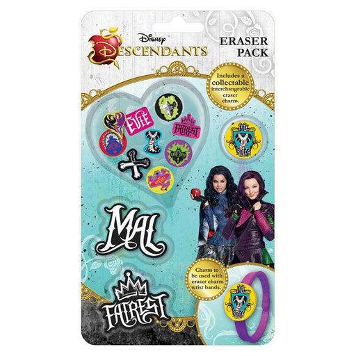 DISNEY DESCENDANTS ERASER PACK