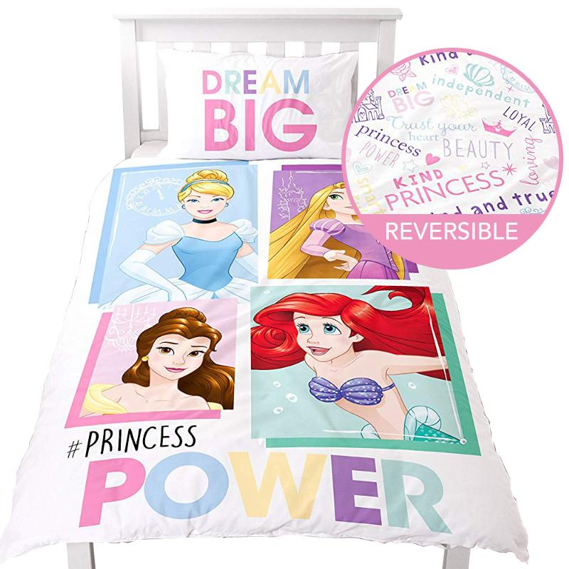DISNEY PRINCESS POWER REVERSIBLE DREAM BIG SINGLE DUVET SET