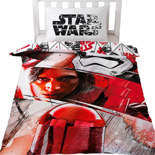 DISNEY STAR WARS REVERSIBLE RED & WHITE SINGLE DUVET SET